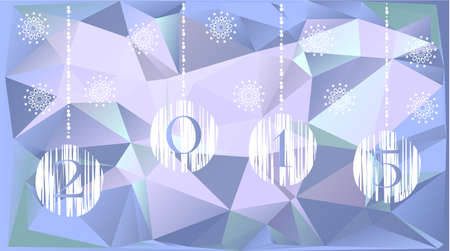 mountin: Light christmas card with white bulbs and triangles Illustration