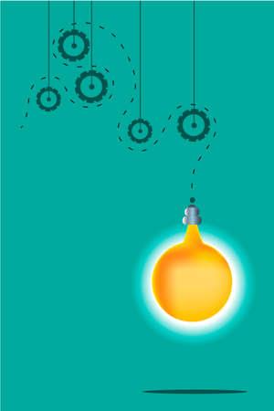 inovation: Card - idea, on the blue background, inovation Illustration