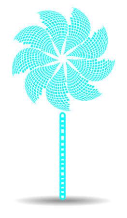 pinwheel toy: Huge pinwheel on white background with shadow