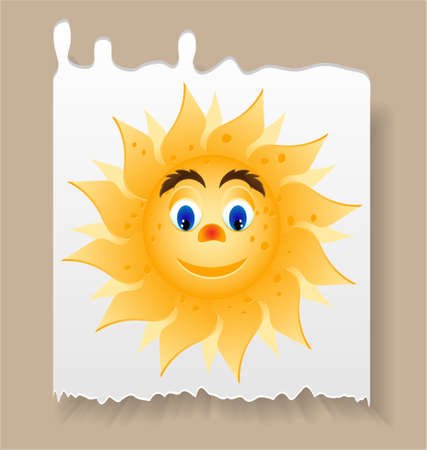 beam with joy: Summer card - piece of paper with sun