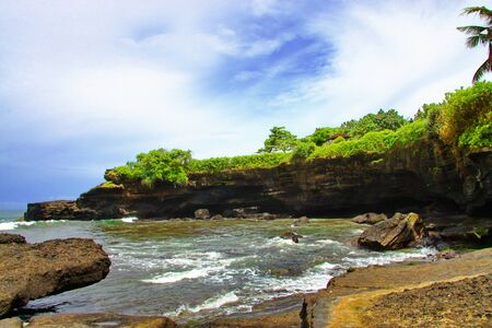 Tanah Lot, Beautiful Beach from Bali Indonesia photo