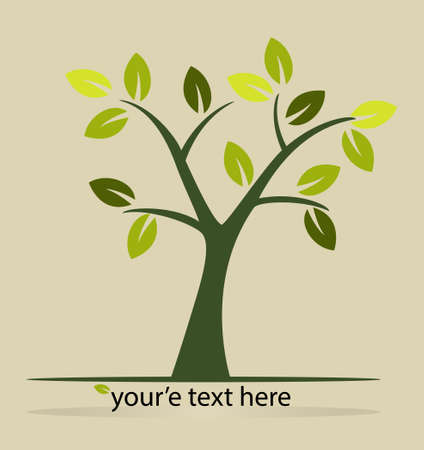 árbol estilizado para que el diseño Ilustración de vector