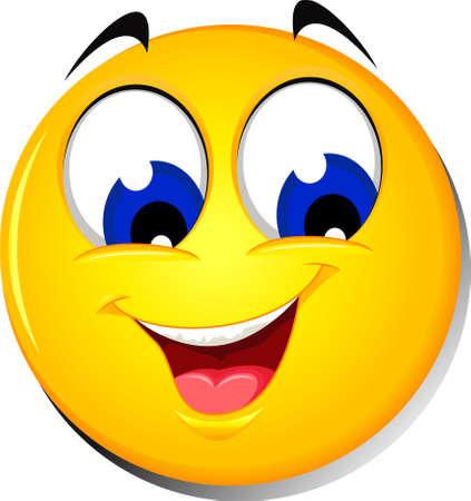 Happy smiley emoticon Illustration