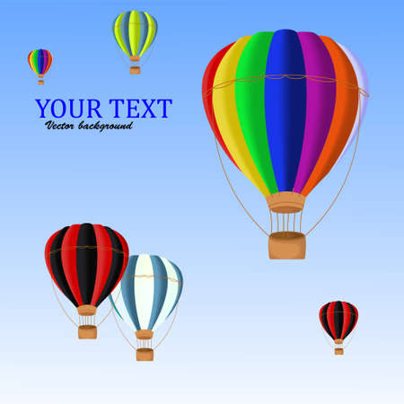 ballons: air ballons background Illustration