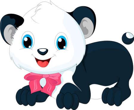 cute cartoon: cute panda cartoon
