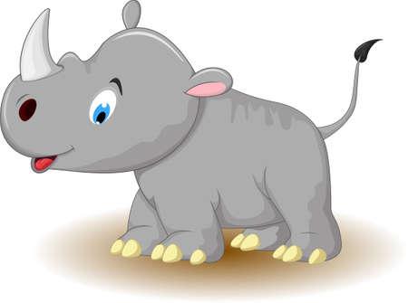 cute cartoon: cute rhino cartoon