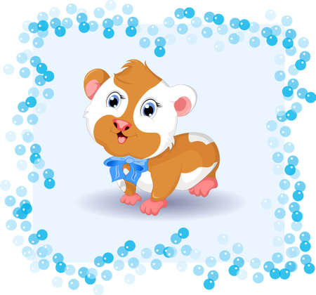 gnaw: cute hamster cartoon with background Illustration