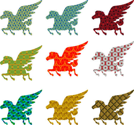 colection: colection three pegasus fly