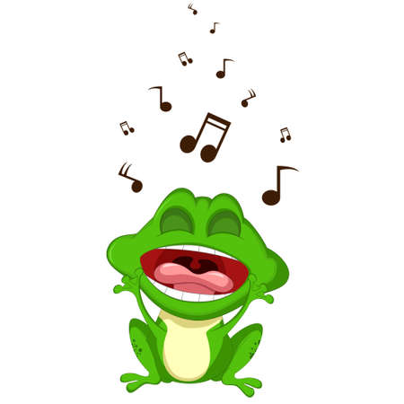 leap: funny frog singing