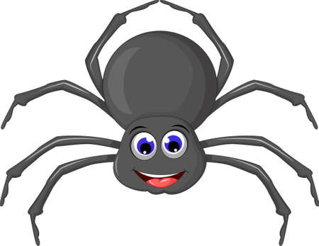 fear cartoon: cute spider cartoon