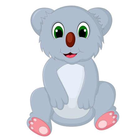 koala: cute koala cartoon sitting