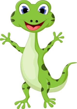 gecko: Cartoon gecko Illustration