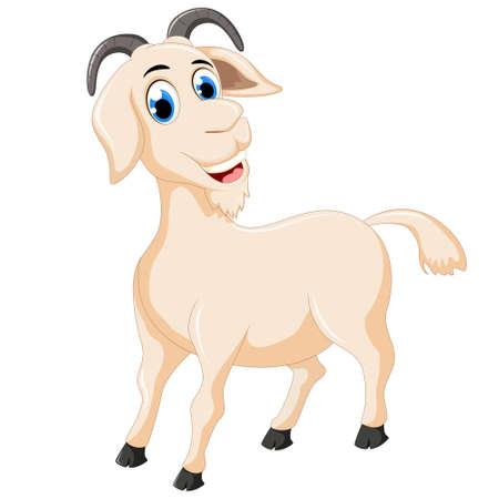 billy: cute goat cartoon Illustration