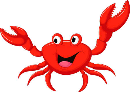 cute cartoon crab Vettoriali
