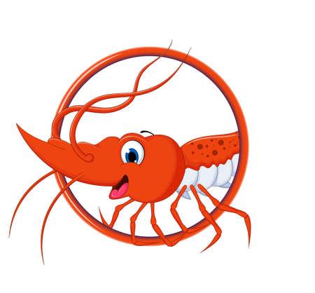 cute cartoon: cute shrimp cartoon