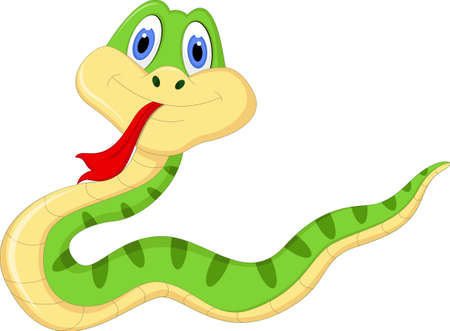 Leuke cartoon snake
