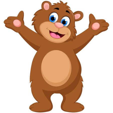 cute bear: Cute brown bear