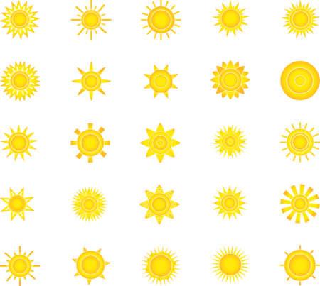 suns: suns icon set for you design Illustration