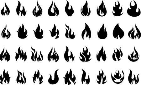 abstract, artistic, background, black, blaze, bonfire, burn, collection, danger, dangerous, decoration, decorative, design, devil, element, emblem, explosion, fire, fireball, flame, flaming, flammable, flat, graphic, heat, hot, icon, illustration, isolate