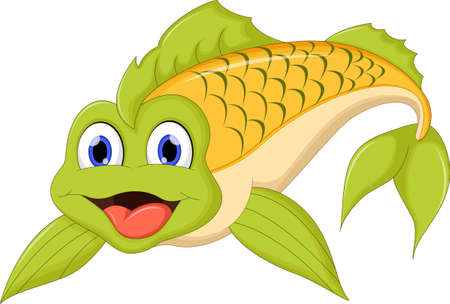trigger fish: Cute cartoon fish
