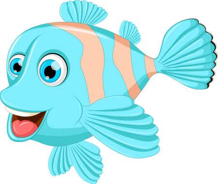 cute cartoon: Cute fish cartoon Illustration