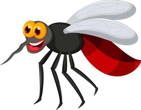 prick: Angry mosquito cartoon