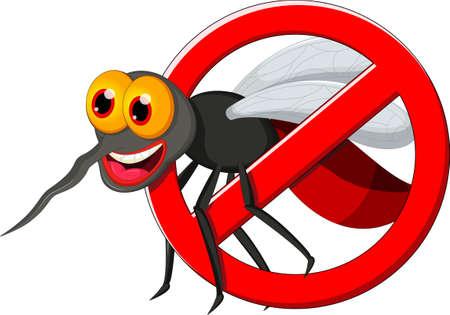 gnat: Stop mosquito cartoon Illustration