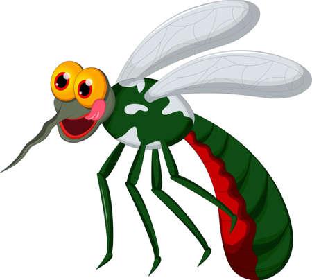 plague: angry mosquito cartoon Illustration
