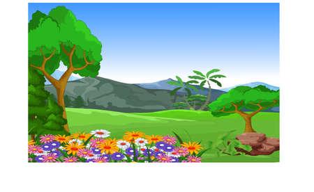 hillside: beauty landscape for you design Illustration