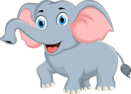 posando elefante lindo de la historieta