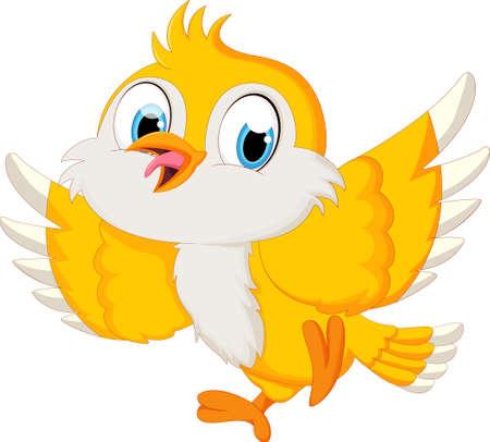ładny ptak kreskówki