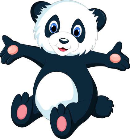 one panda: cute sitting panda