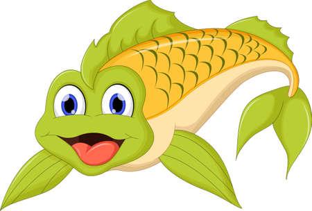 trigger fish: Cute cartoon fish