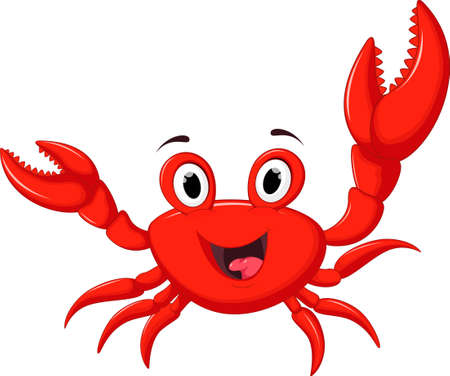 Funny Cartoon Crab Ilustração