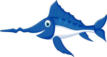 Cartoon Marlin Fish For you design Ilustração