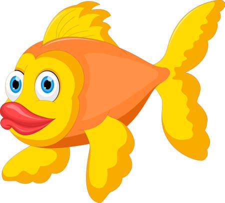 Cartoon Golden Fish For you design Ilustração
