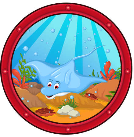 stingray cartoon Illustration