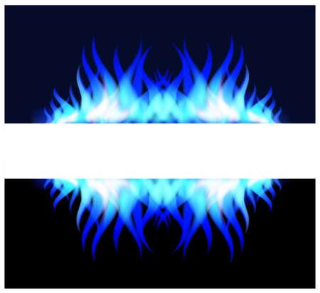 blue flame: Blue fire flame
