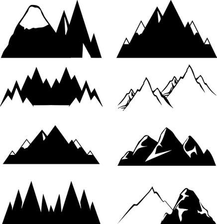 Mountain icons set for you design