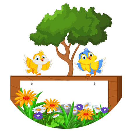 birdsong: bird cartoon for you design