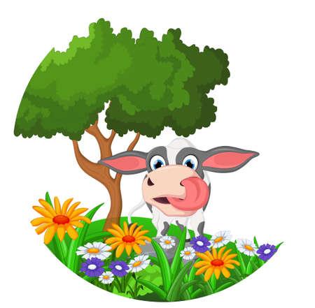 moo: cartoon cow