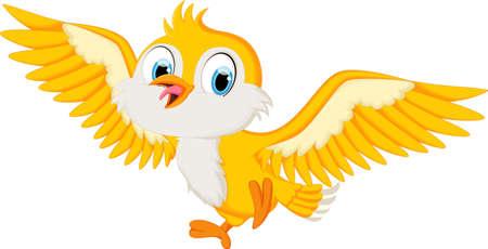 yelow: yelow bird will land fly