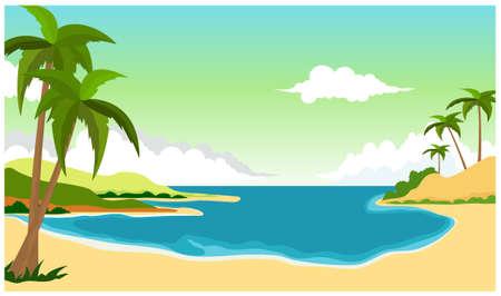beach background for you design Illustration