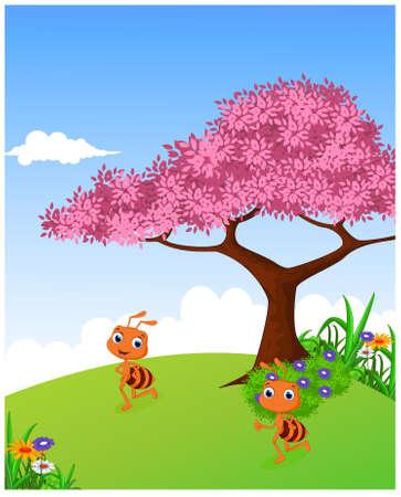 hormiga caricatura: de dibujos animados hormiga