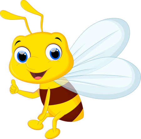 Cute bee cartoon for you design