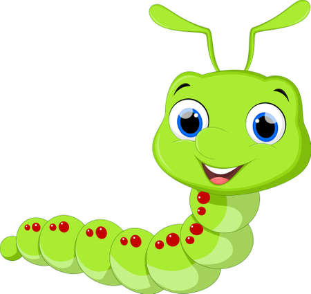 Cute caterpillar cartoon Ilustrace