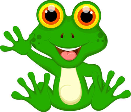 Green Frog cartoon for you design