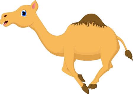 running camel: Cartoon camel running