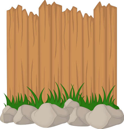 green plants: Wooden fence and grass