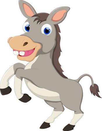 Possing burro de la historieta
